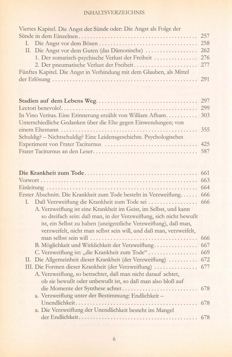 Der Begriff der Angst - Inhalt Seite 2