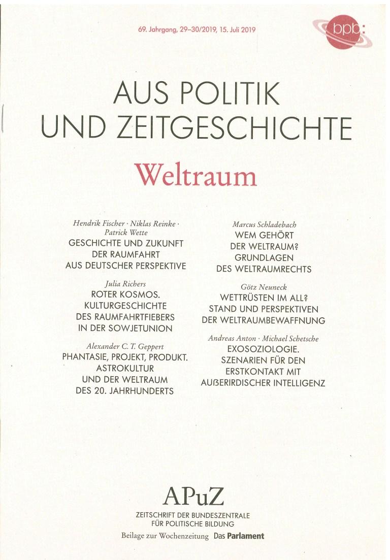 Aus Politik und Zeitgeschichte, 29-30/2019 - Titelcover