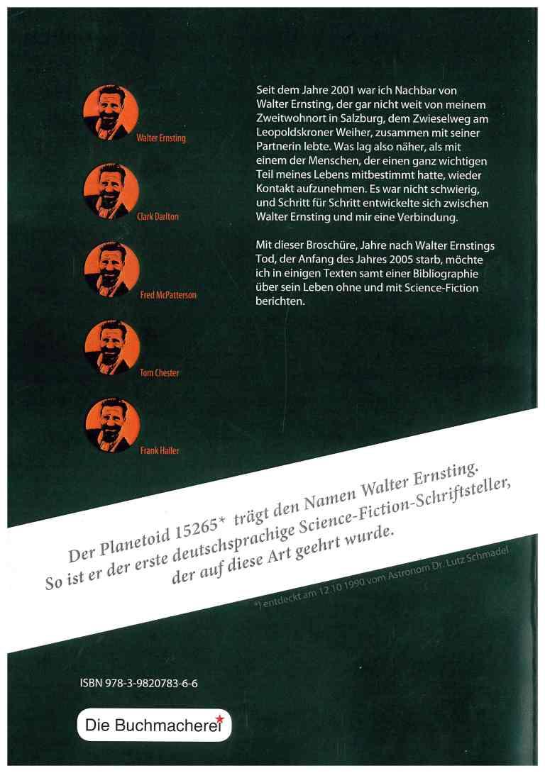 Walter Ernsting - Rückencover