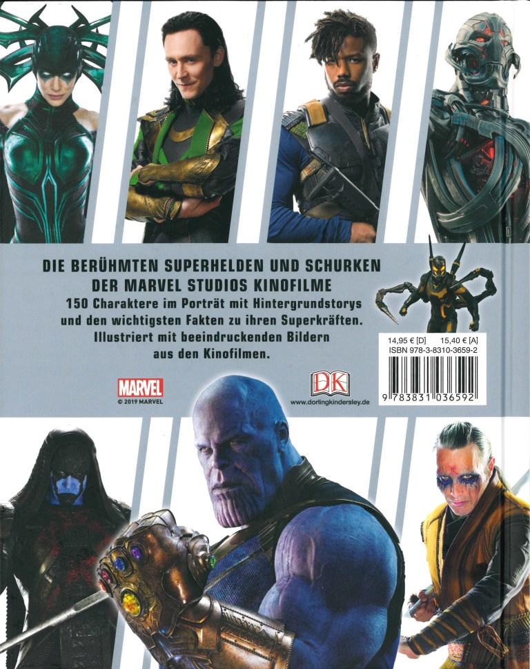 Lexikon der Superhelden-Marvel - Rückencover