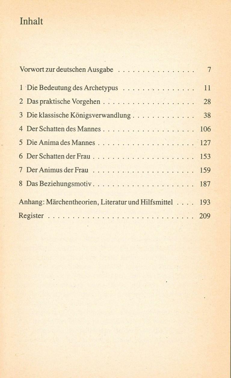 Psychologische Märcheninterpretationen - Inhalt