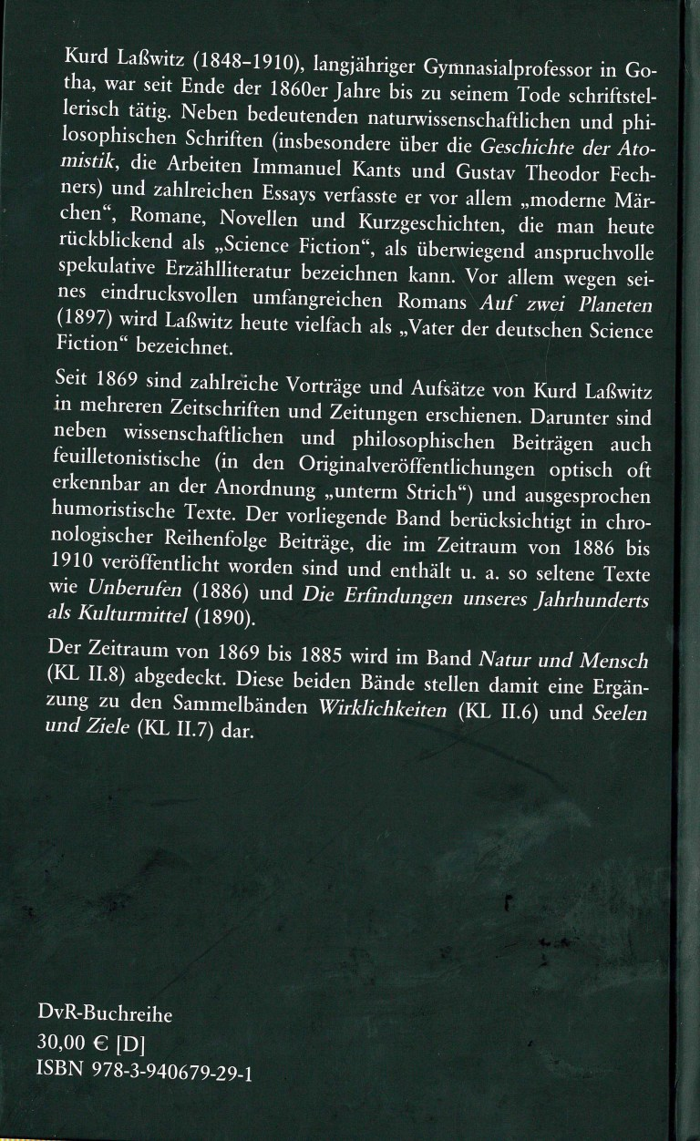 Zivilisaztion und Kultur - Rückencover