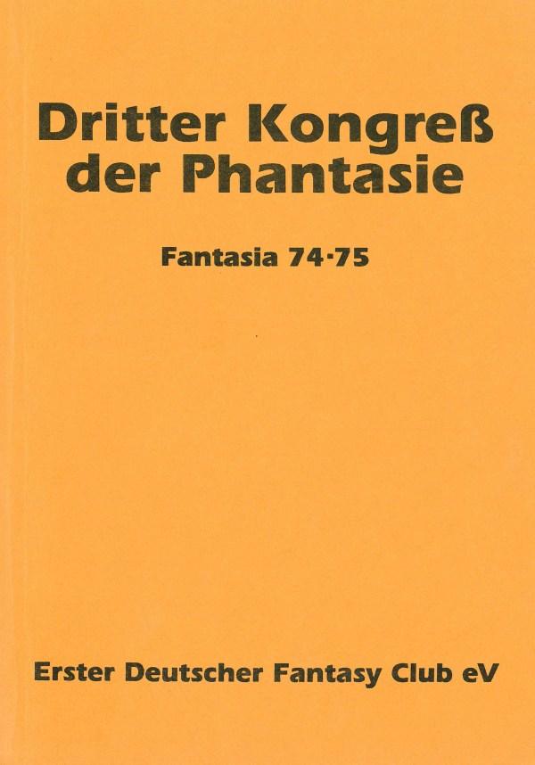 Fantasia 74/75 Dritter Kongress der Phantasie - Titelcover