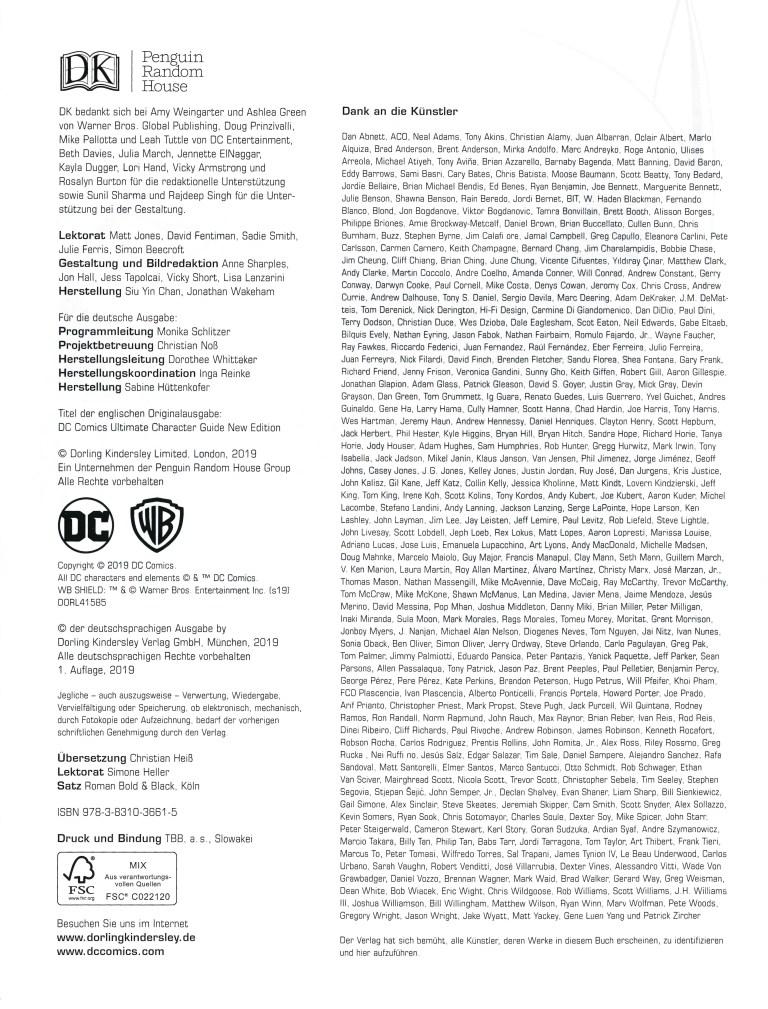 Das grosse Superhelden-Lexikon - Impressum