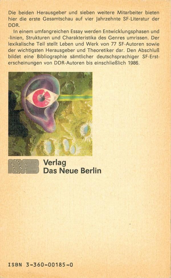 Die Science-fiction der DDR. Autoren und Werke - Rückencover