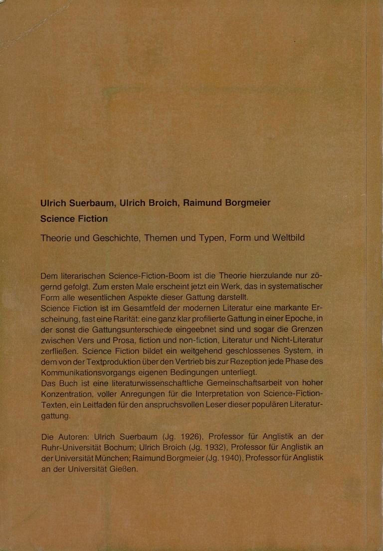 Science Fiction/Suerbaum - Rückencover