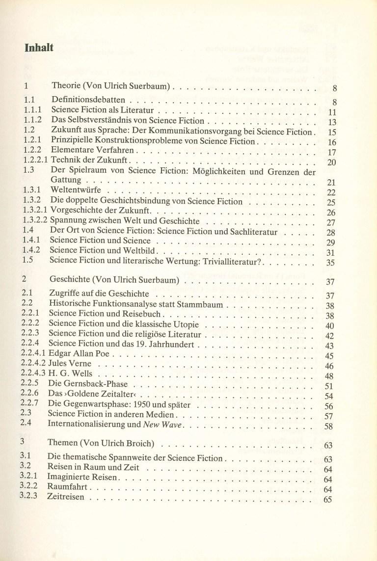 Science Fiction/Suerbaum - Inhalt Seite 1