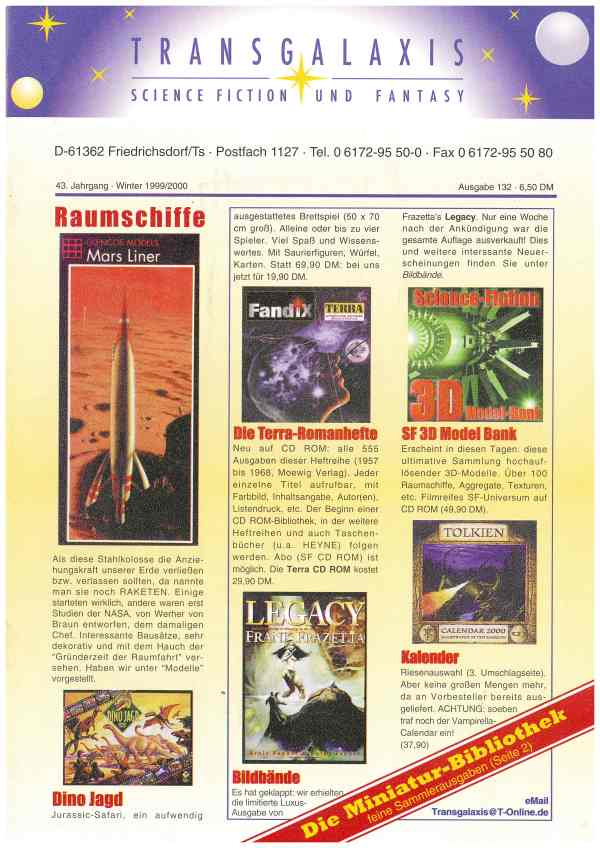Transgalaxis, Nr. 132, Winter 1999/2000 - Titelcover