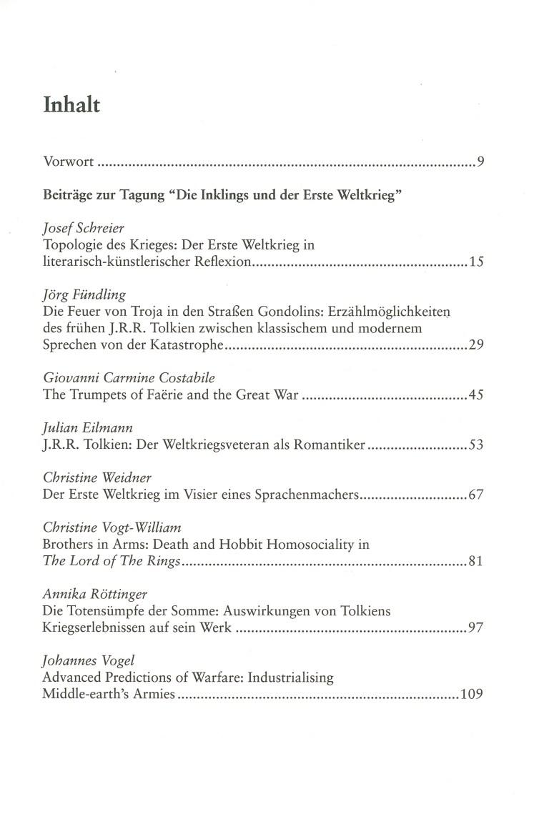 Inklings-Jahrbuch, Band 34 - Inhalt Seite 1