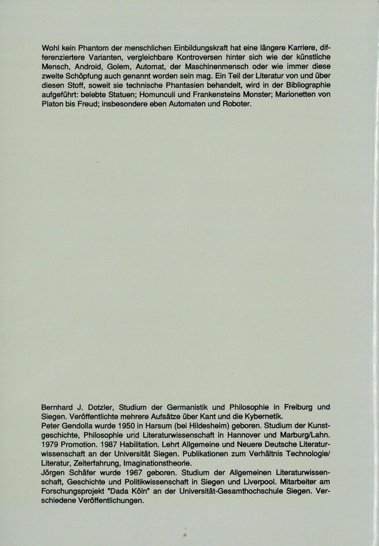 MaschinenMenschen - Rückencover