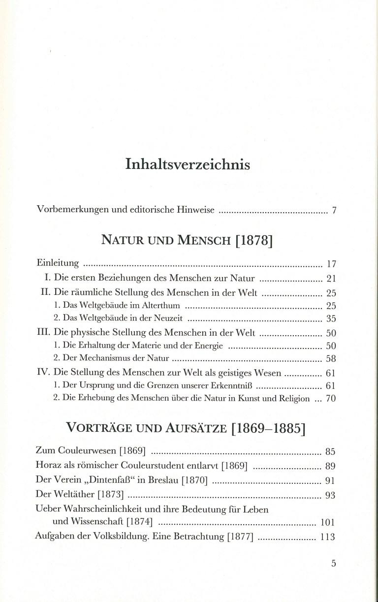 Natur und Mensch - Inhalt Seite 1