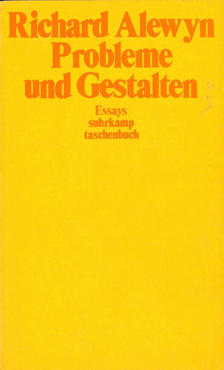 Probleme und Gestalten - Titelcover