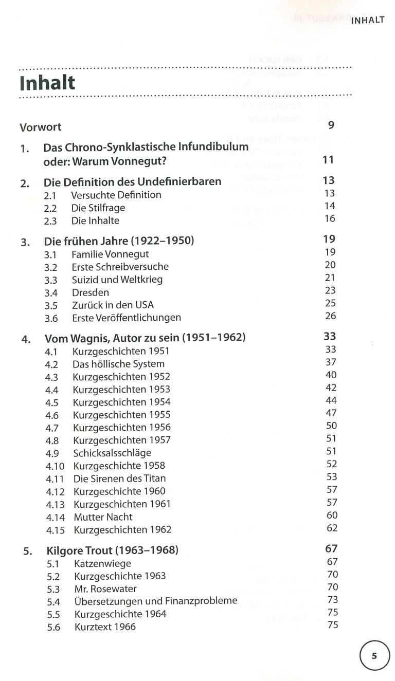 Kurt Vonnegut jr. - Inhalt Seite 1