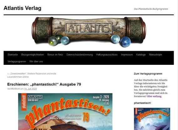 Atlantin Verlag - Phantastisch 79