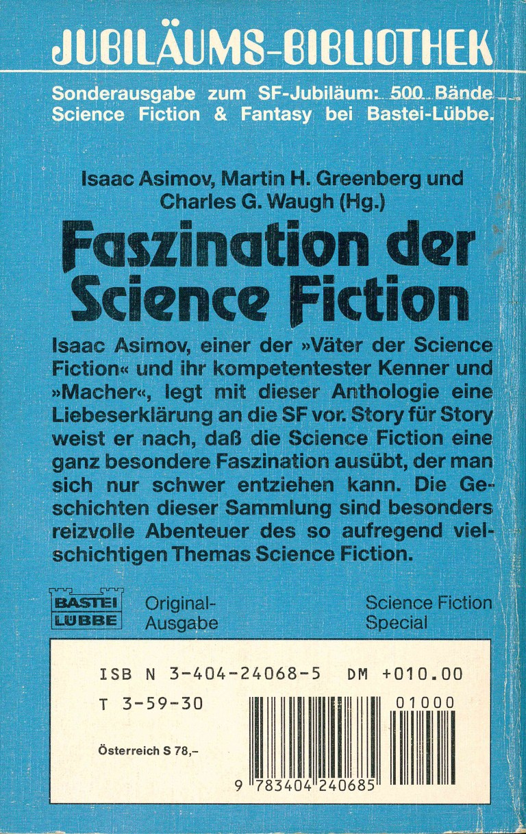 Faszination Science Fiction - Rückencover