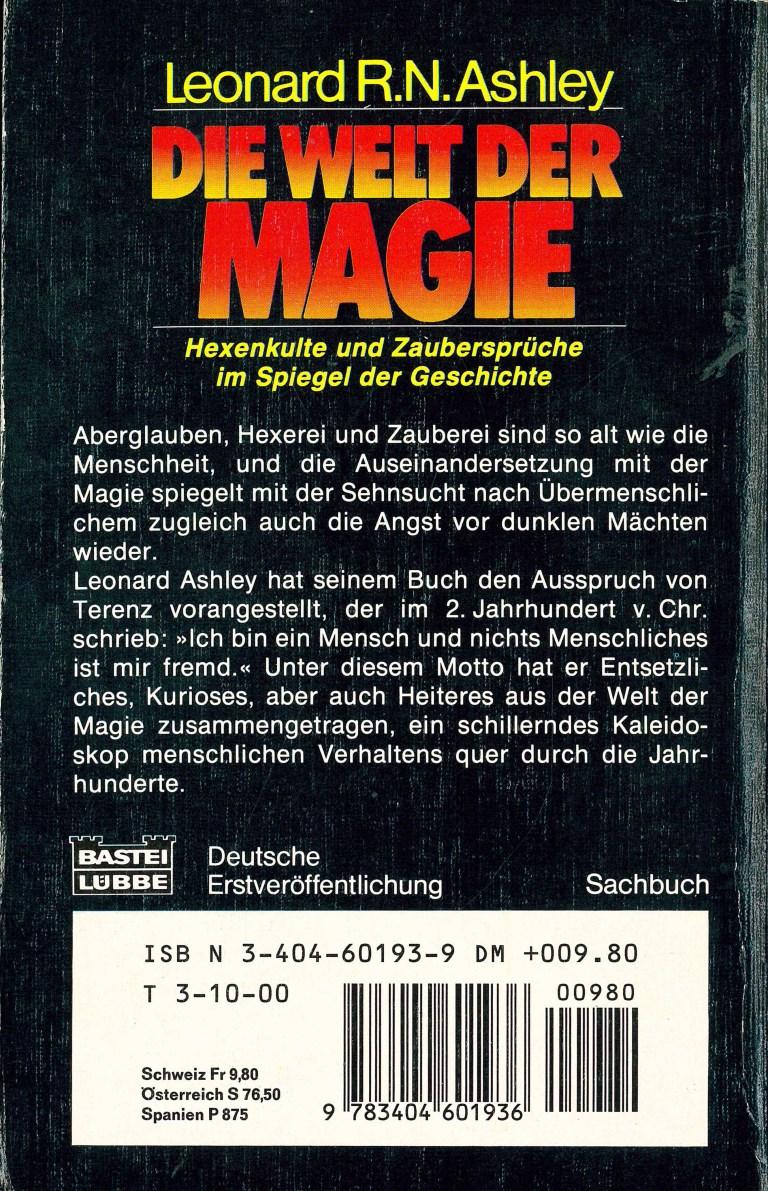 Die Welt der Magie - Rückencover