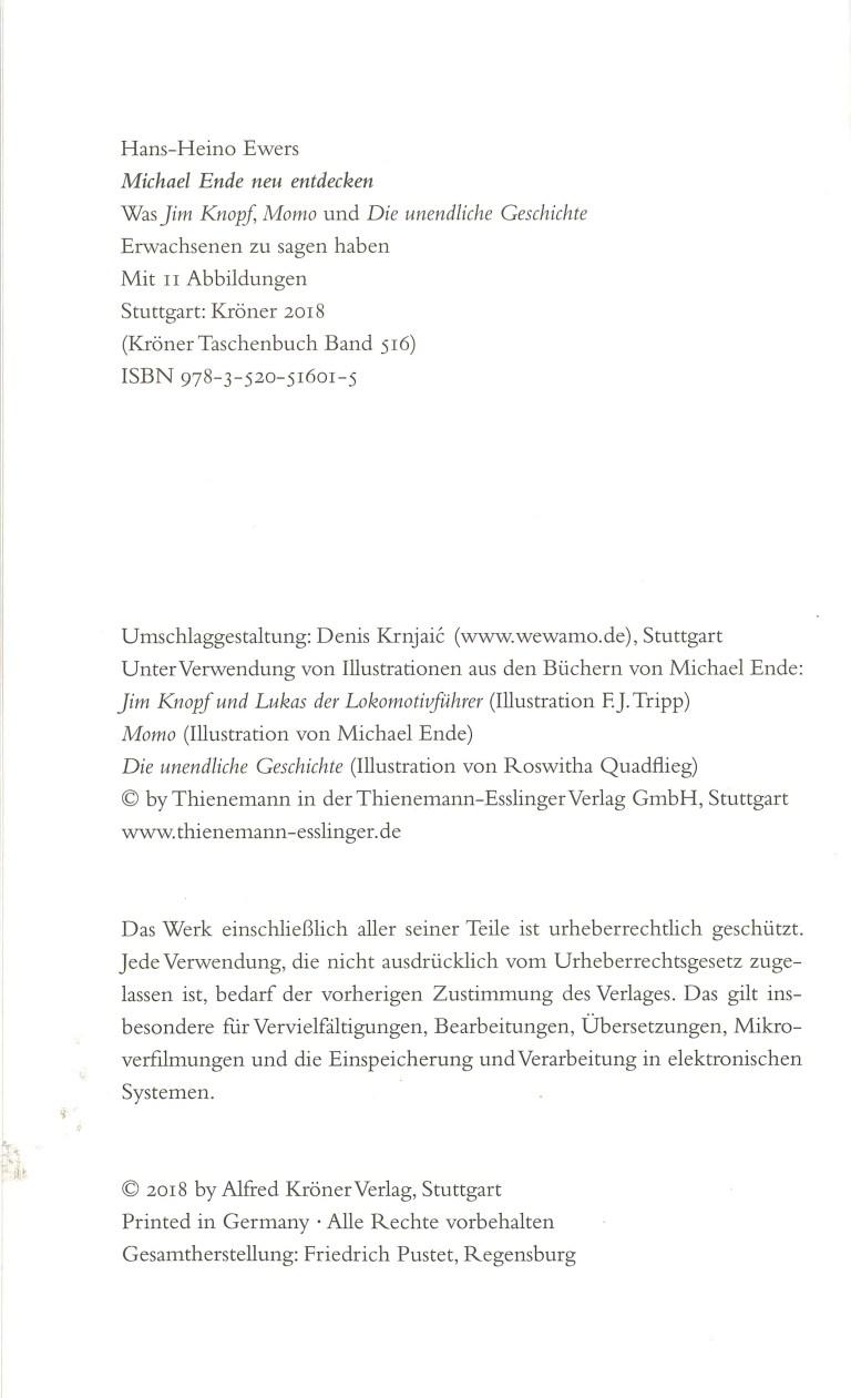 Michael Ende neu entdecken - Impressum