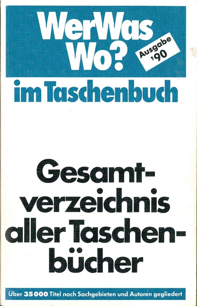 Gesamtverzeichnis Taschenbücher 1990 - Titelcover