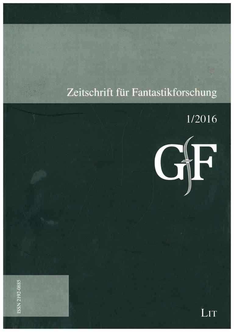 Zeitschrift für Fantastikforschung, 2/2016 - Titelcover