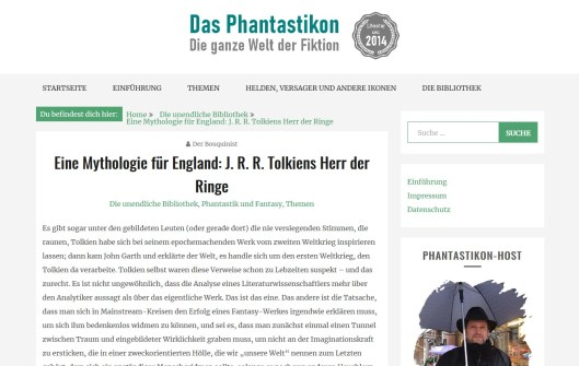 Phantastikon - Tolkien, Herr der Ringe
