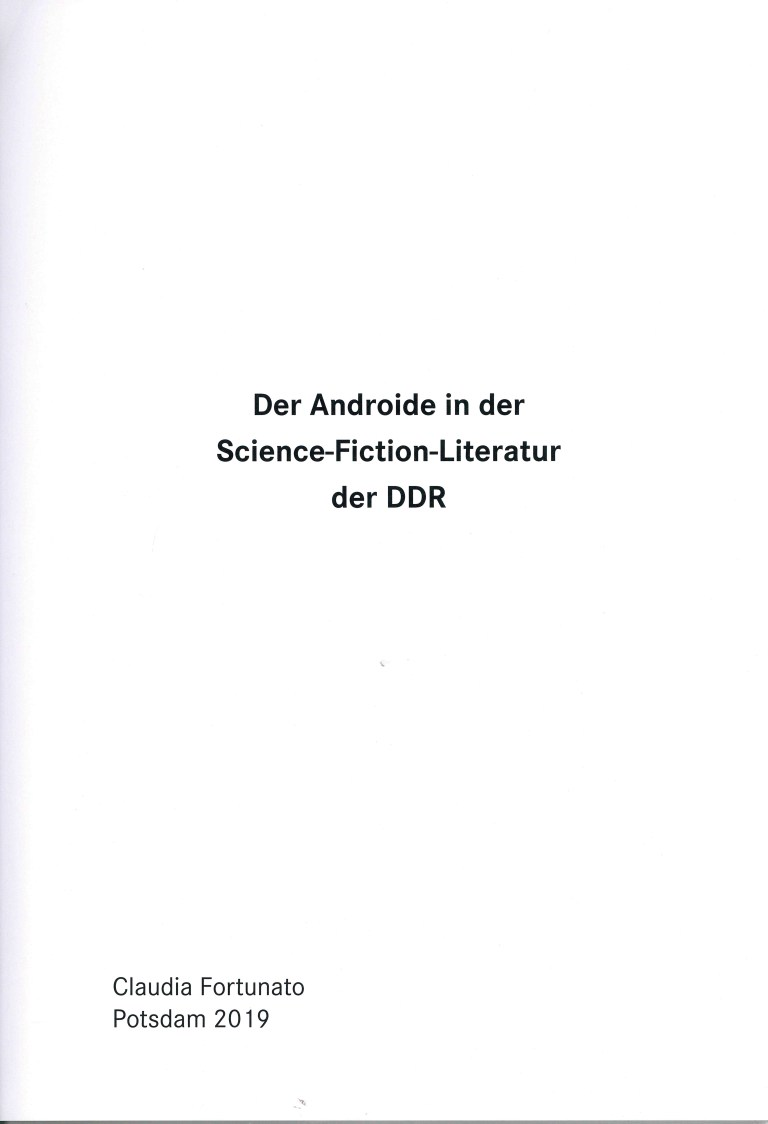 Der Androide in der Science-Fiction-Literatur der DDR - Impressum
