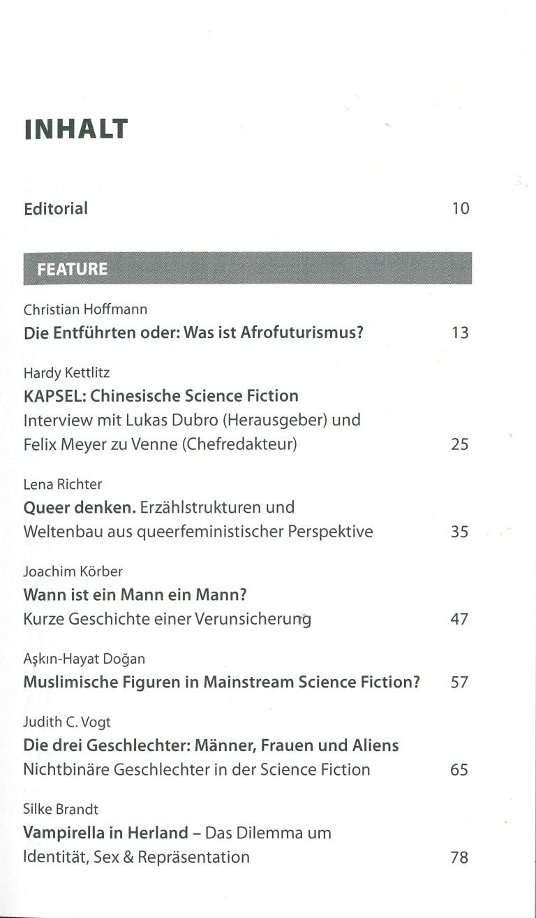 Das Science Fiction Jahr 2020 - Inhalt Seite 1