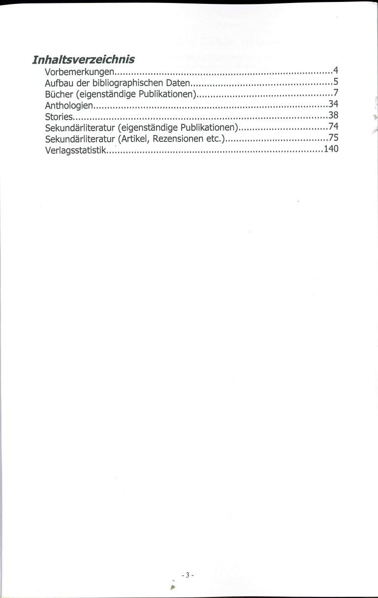 Bibliographie der deuschsprachigen Science Fiction und Fantasy 1962 - Inhalt