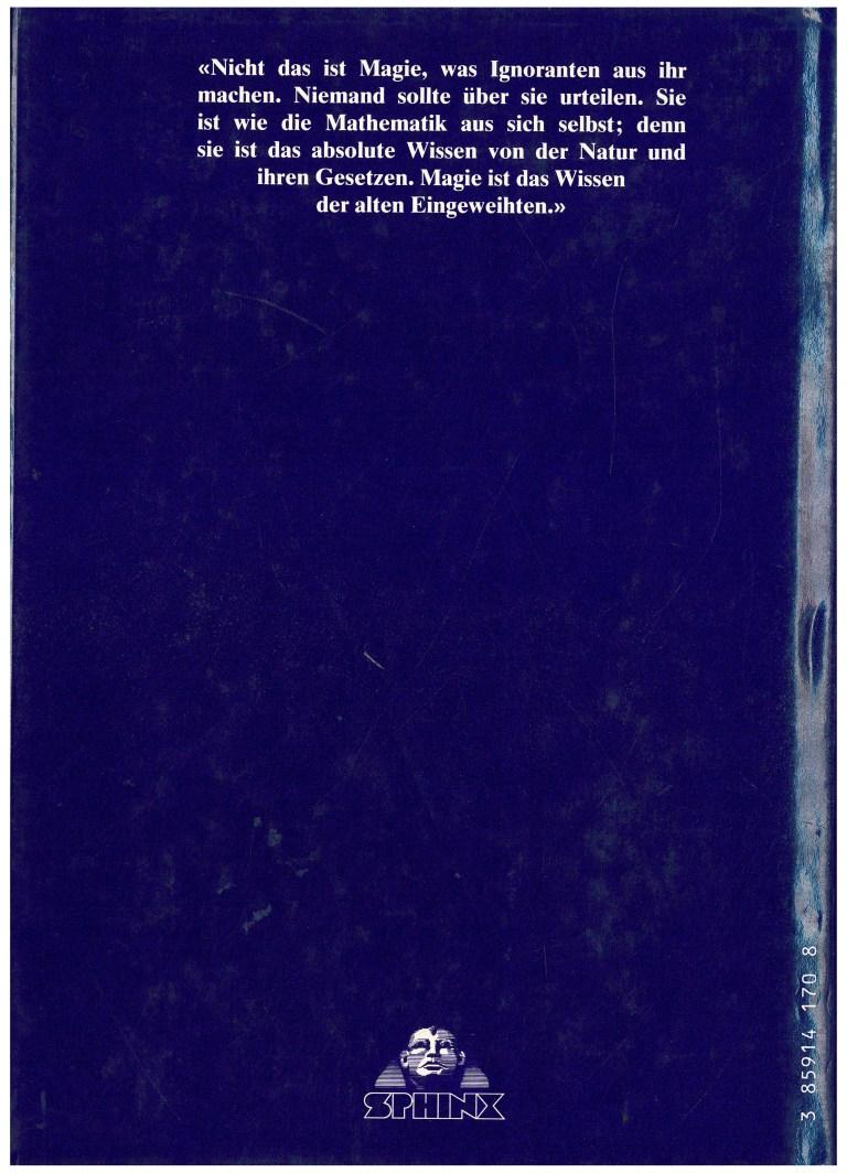 Geschichte der Magie 1985 - Rückencover