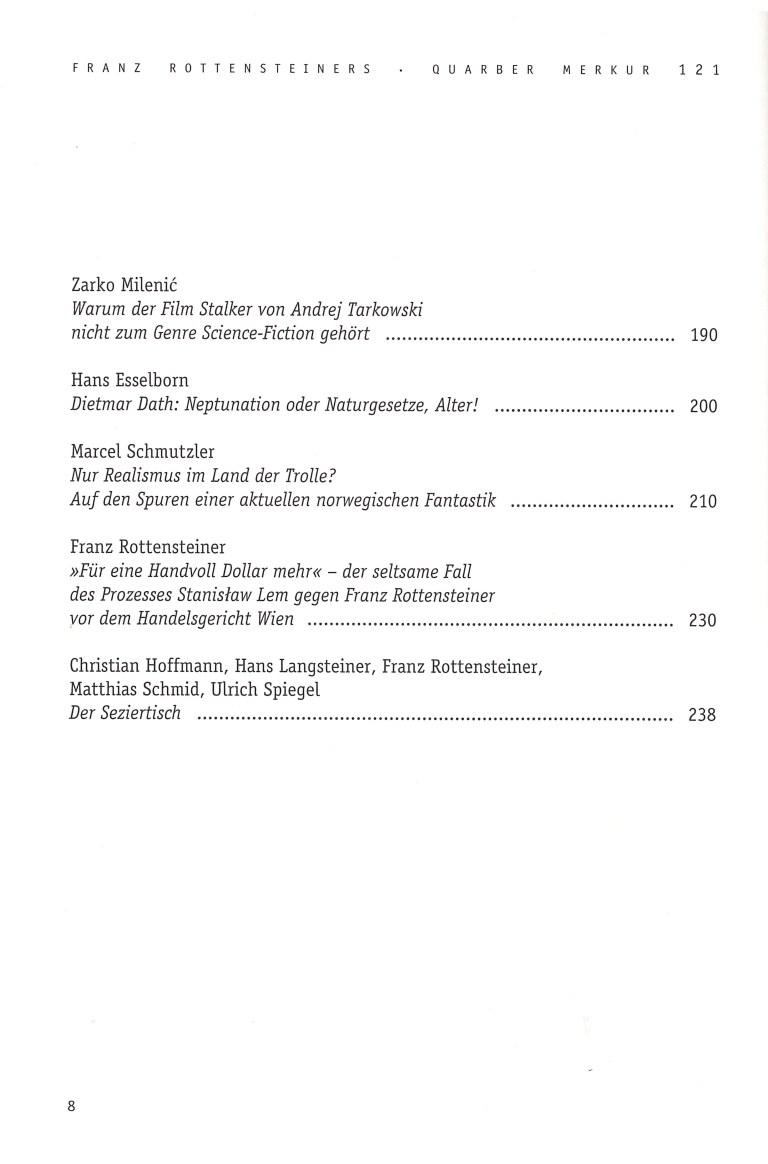 Quarber Merkur 121 - Inhalt Seite 2