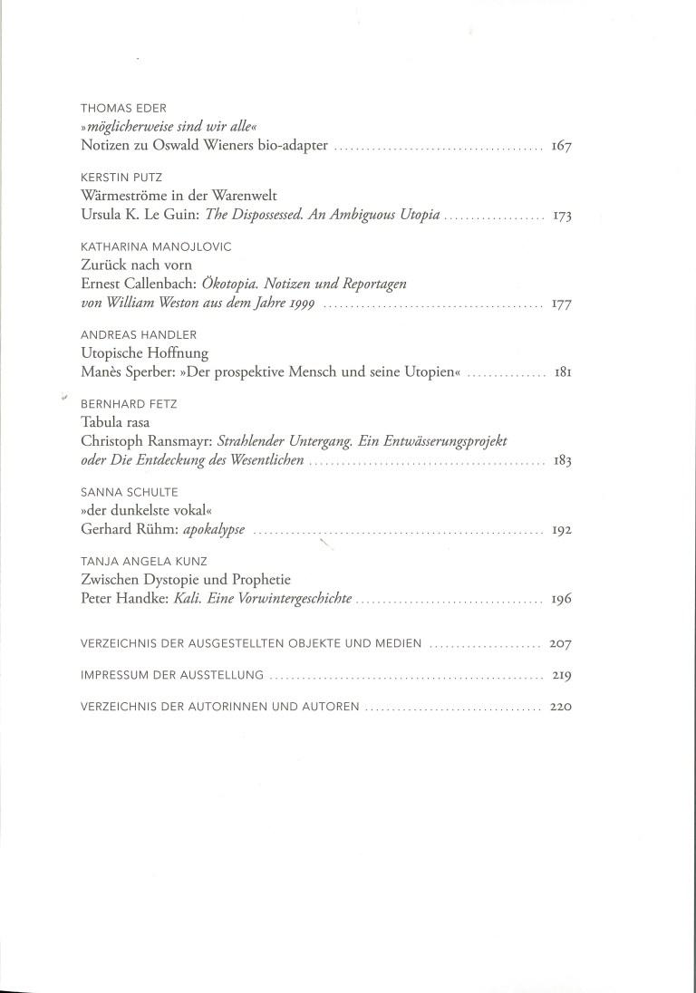 Utopien und Apokalypsen - Inhalt Seite 3