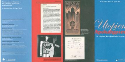 Utopien und Apokaypsen - Ausstellungsfolder Seite 1