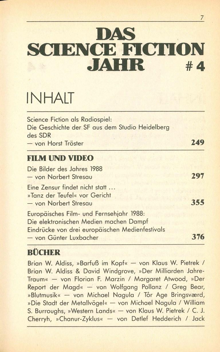Science Fiction Jahr 1989 - Inhalt Seite 3