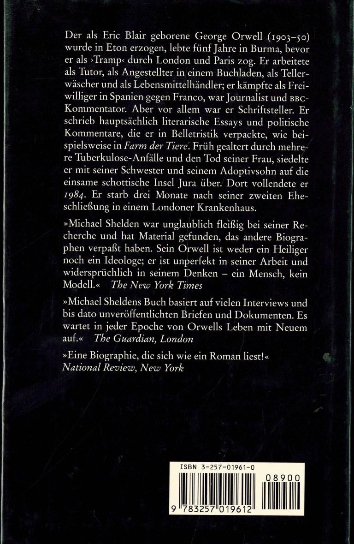 George Orwell (Shelden) - Rückencover