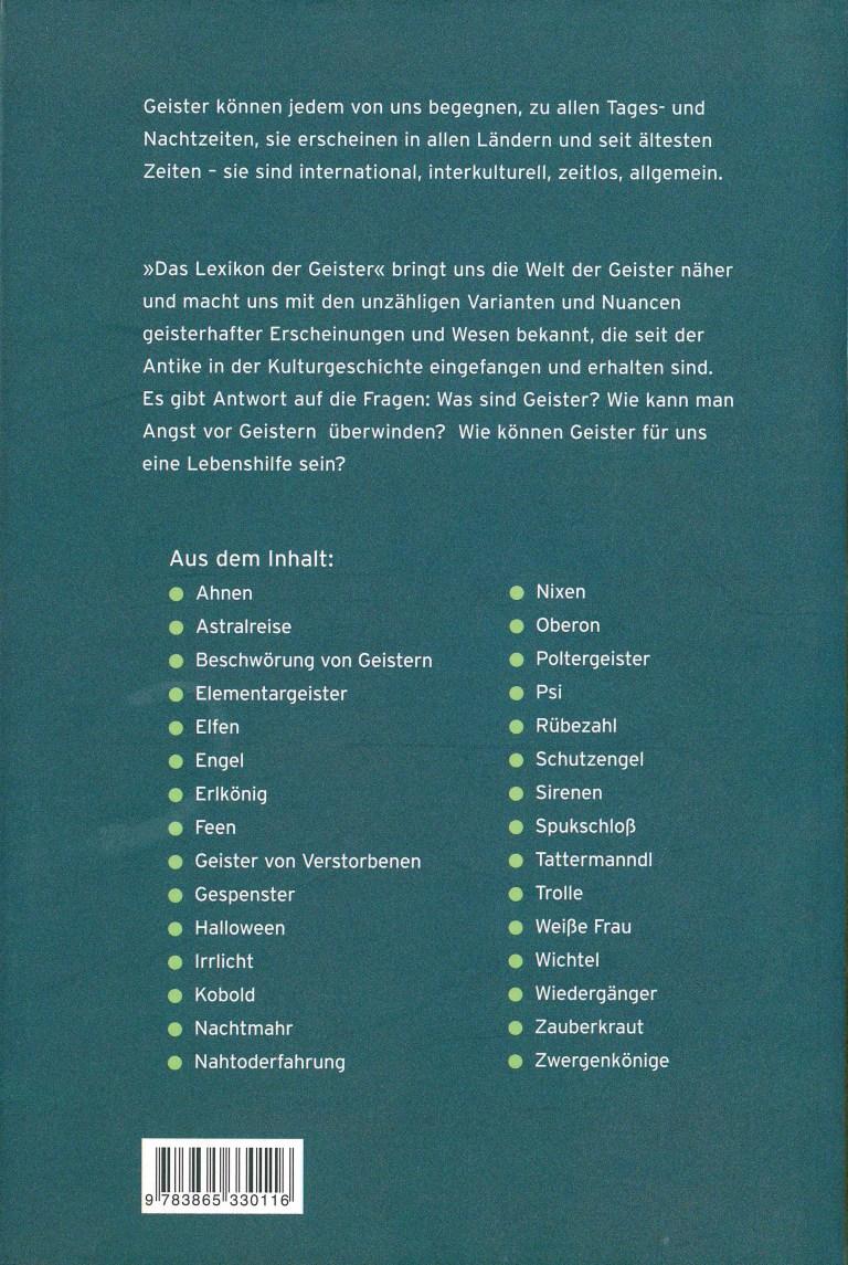 Das Lexikon der Geister - Rückencover
