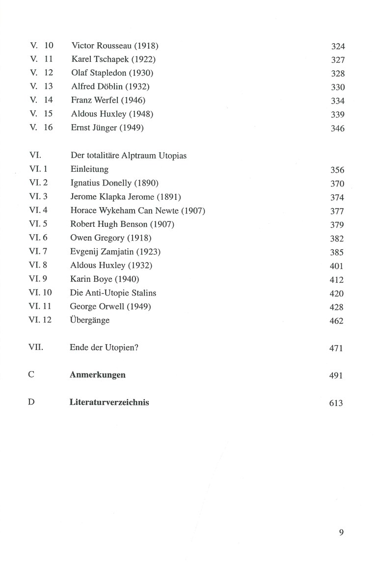 Die anti-utopische Tradition - Inhalt Seite 3