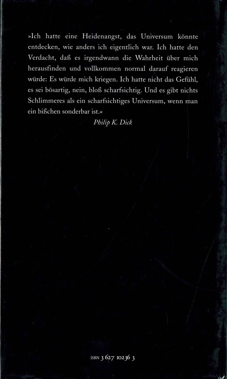 P.K.Dick Göttliche Überfälle - Rückencover