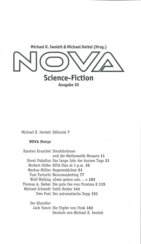Nova, Nr. 30 - Inhalt Seite 1
