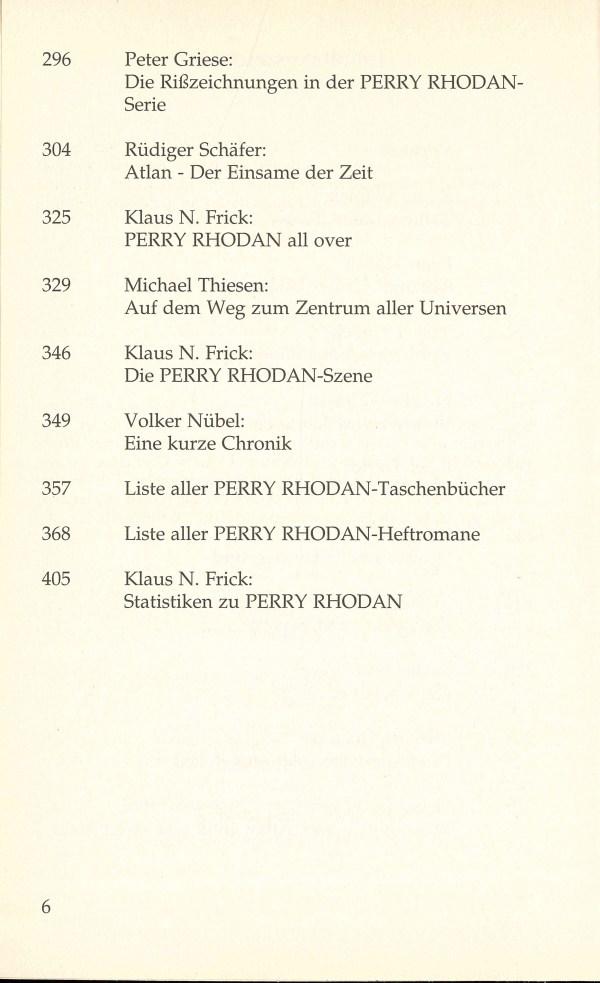 PR Fanbuch - Inhalt Seite 2