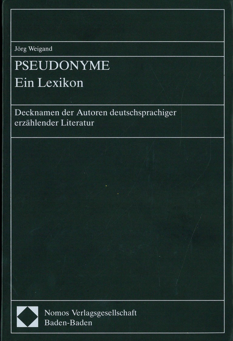 Pseudonyme, 1. Aufl. - Titelcover