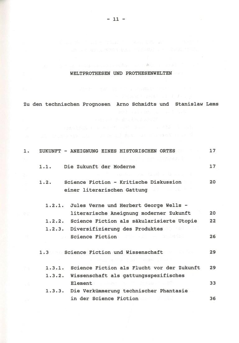 Weltprothesen und Prothesenwelten - Inhalt Seite 1