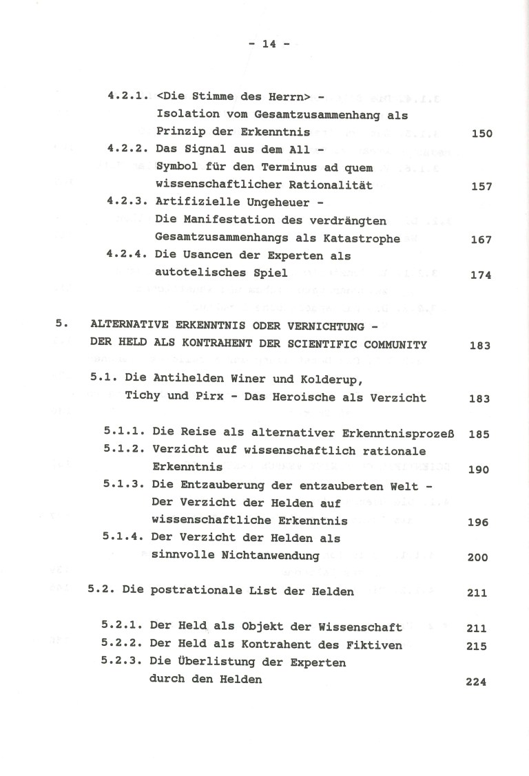 Weltprothesen und Prothesenwelten - Inhalt Seite 4
