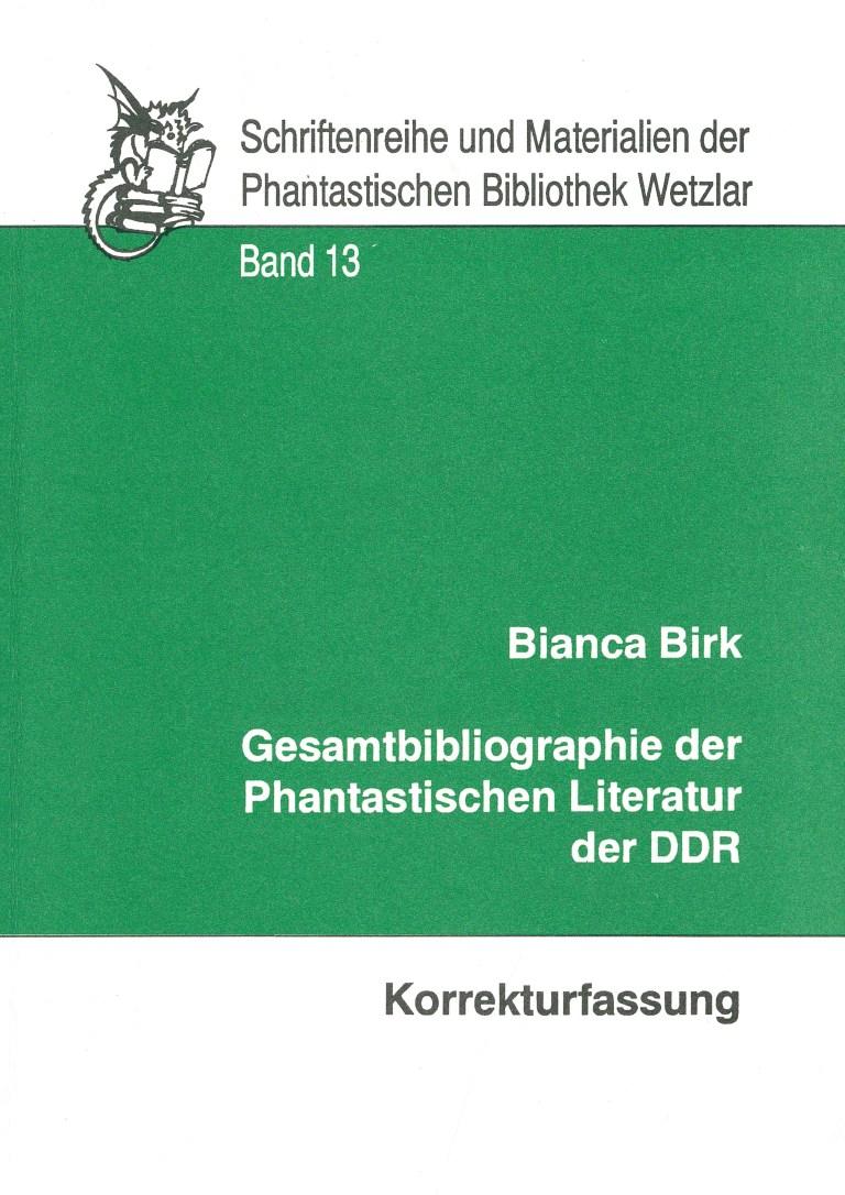 Bibliographie der Phantastischen Literatur der DDR - Titelcover