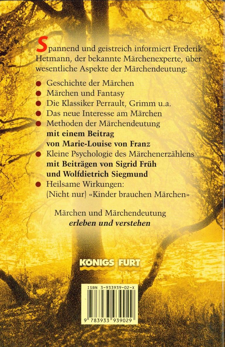 Märchen und Märchendeutung - Rückencover