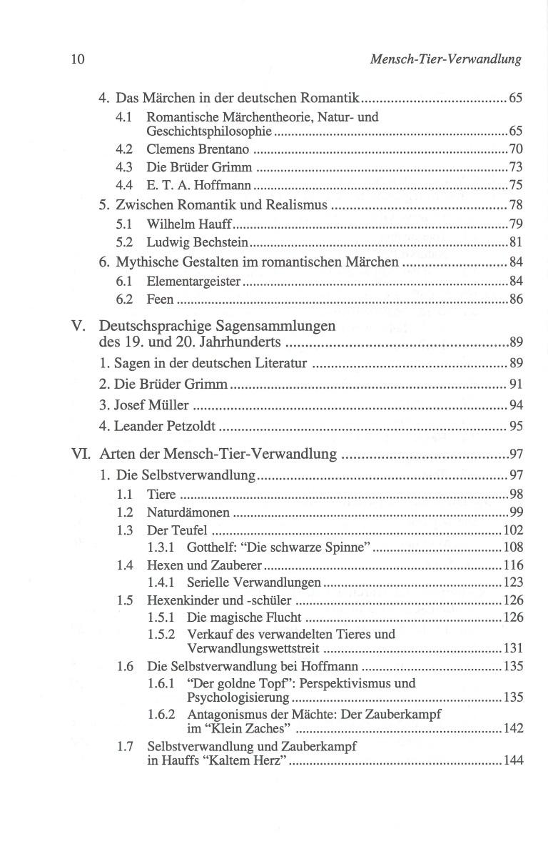 Die Mensch-Tier-Verwandlung - Inhalt Seite 2
