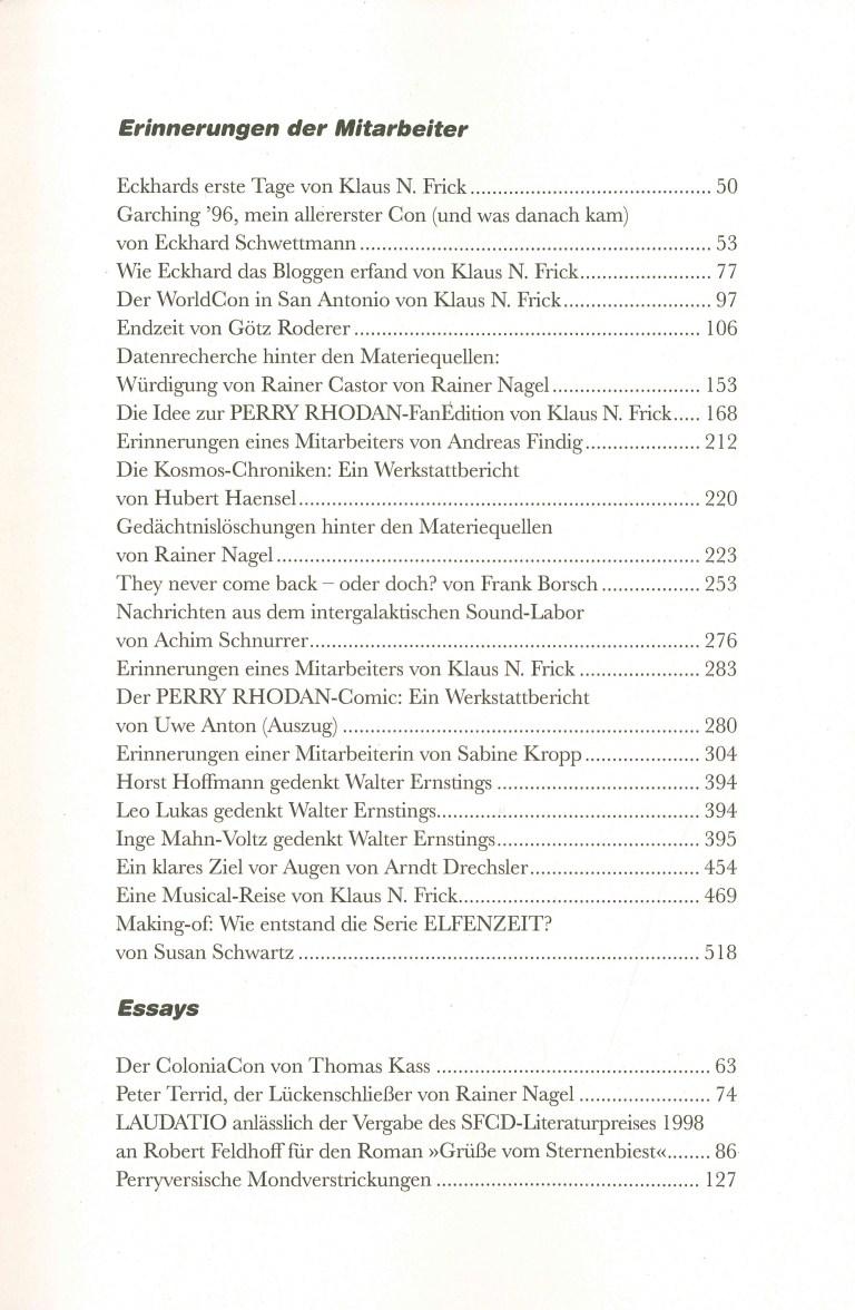 Perra Rhodan, Die Chronik, Band 4 - Inhalt Seite 7