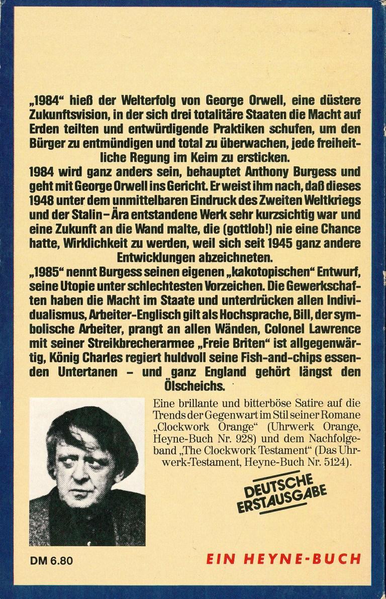 1985 - Rückencover