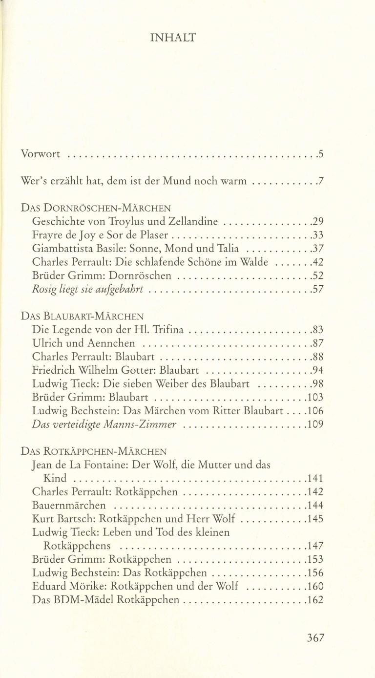Wie Dornröschen seine Unschuld gewann - Inhalt Seite 1