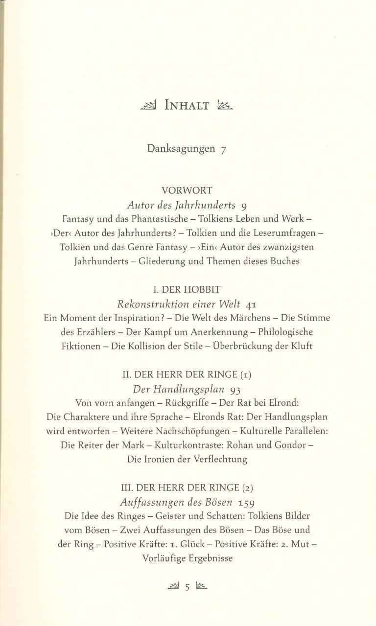 J. R. R. Tolkien - Inhalts Seite 1