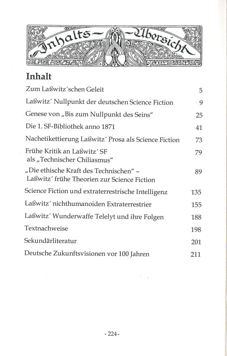 150 Jahre Kurd Laßwitz … - Inhalt
