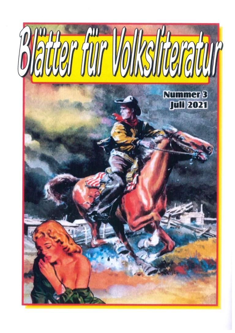 Blätter für Volksliteratur, Nr. 3, Juli 2021 - Rückencover